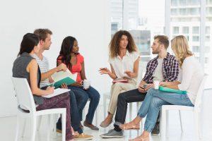 Mental health employee meeting