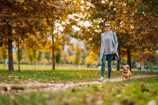 Ardent Residential community member walking her dog